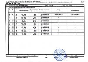 Образец кадастровой выписки о земельном участке