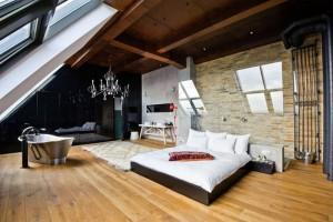 Изображение - Лофт - что это такое чем он отличается от квартиры в москве spalnya-loft-17-300x200
